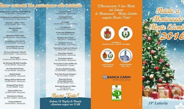 Natale 2016 a Montescudo – Monte Colombo: il programma degli eventi