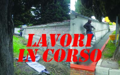 Iniziati i lavori di manutenzione alla facciata esterna del Cimitero di Trarivi, che resta comunque fruibile dai cittadini