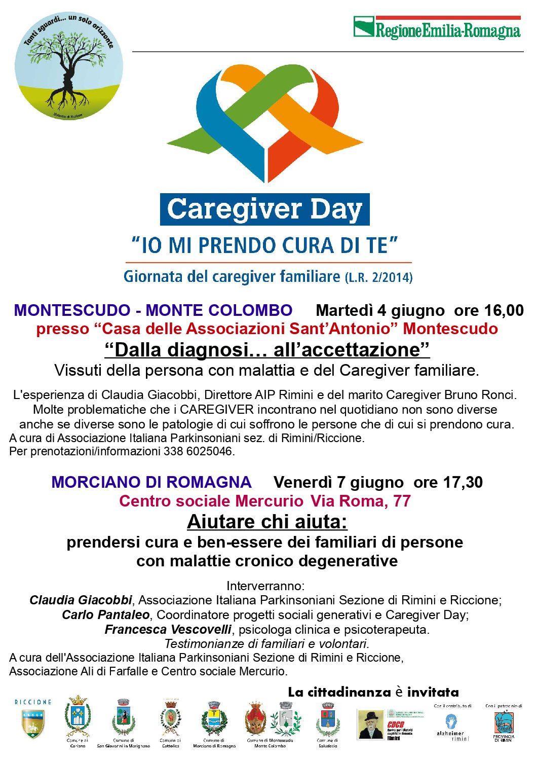 """Caregiver Day: """"IO MI PRENDO CURA DI TE"""" Giornata del Caregiver familiare (L.R. 2/2014) – 26 maggio 2019 ore 16,00"""
