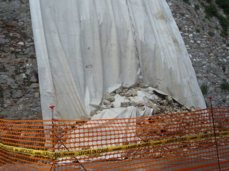 aggiornamento Crollo mura: concluse le indagini geologiche.