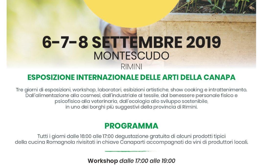 CanapArti: dal 6 all'8 settembre a Montescudo