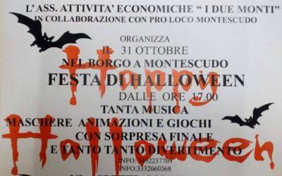 31 Ottobre 2019: Festa di Halloween a Montescudo!