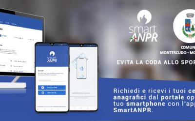 Nuovo servizio Smart ANPR : certificati anagrafici da app e portale web