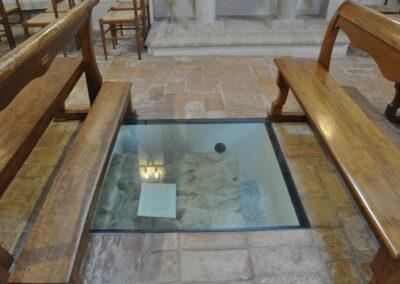 Santuario di Valliano - tratti delle antiche murature riportati alla luce