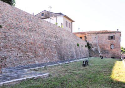 Retro del castello di San Savino, dove si lavavano i panni