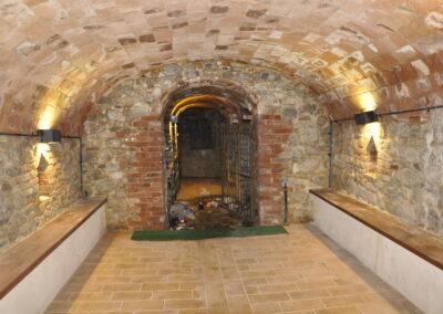 Interno della grotta che fu anche rifugio